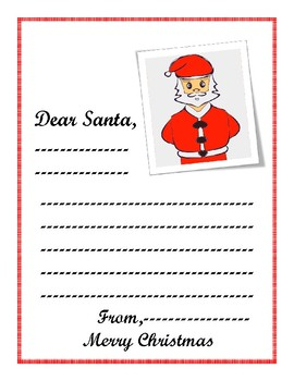 Dear Santa Letter FREE