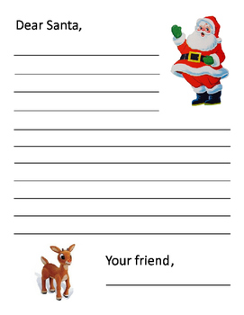 Christmas Letter to Santa ~ Printable Writing Template for the Holidays