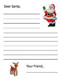 Christmas Letter to Santa ~ Printable Writing Template for