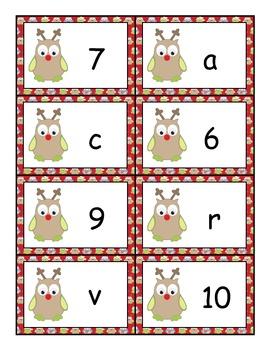 Christmas Letter vs Word and Letter vs Number Sorts