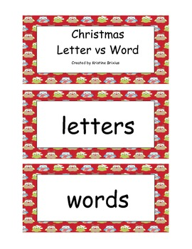 Christmas Letter vs Word and Letter vs Number Sorts