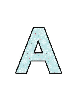 Christmas Lettering (upper/lowercase, cursive, numbers, sh