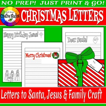 Christmas Letters Craft Activity - No Prep!