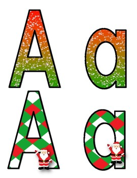 Christmas Letters, Numbers, and More! (Class decor)