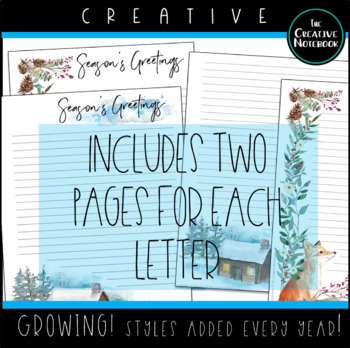 Christmas Letters Stationery | Holiday Stationery | Winter Stationery | GROWING!
