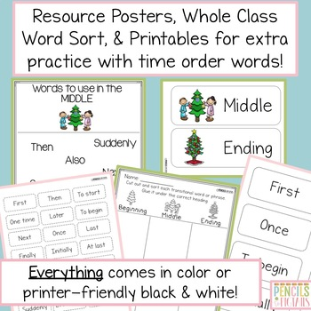 Transition and Time Order Words Writing Practice