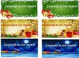Christmas 'Leyendo es un Regalo' Bookmarks