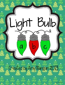 Christmas Light ABC File Folder Game