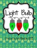 Christmas Light ABC File Folder Game