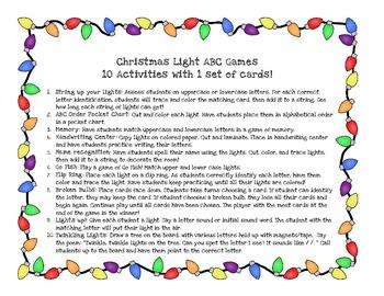 Christmas Light ABC Games