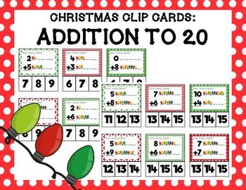 Christmas Light Addition Clip Cards