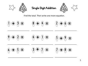 Christmas Light Addition and Subtraction Fun