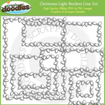 Christmas Light Borders