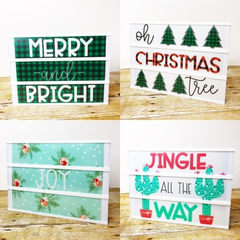 Christmas Light Box Inserts