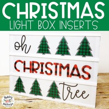 Christmas Light Box Inserts