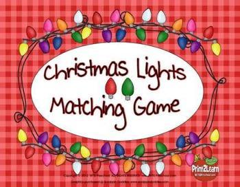 Christmas Light Bulb Game