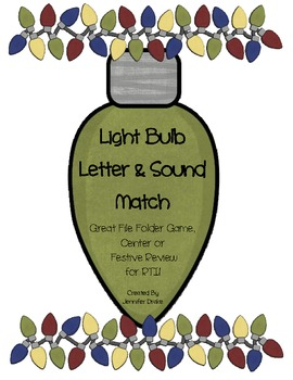 Christmas Light Bulb Letter & Sound Match Activity! ~2 Games In 1!