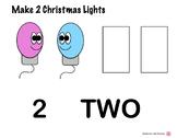 Christmas Light Bulb Playdoh (Play dough) Mats