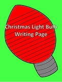 Christmas Light Bulb Writing Page