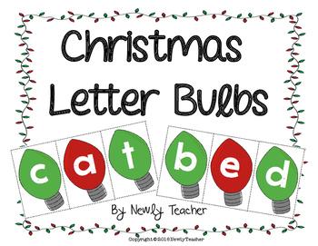 Christmas Light Bulbs Letters