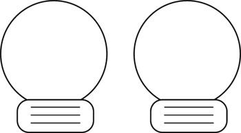 Christmas Light Bulbs OR Snow Globe (Templates)