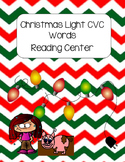 Christmas Light CVC Words Reading Center