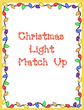 Christmas Light Color Match Up- Memory Game