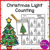 Christmas Light Counting Activities and Worksheets