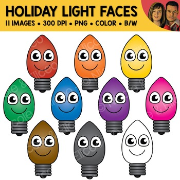 Christmas Light Face Clipart