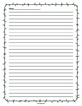 Christmas Light Lined Paper