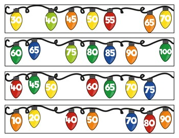 Christmas Light Number Sequences