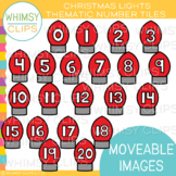 Christmas Light Number Tiles Clip Art {MOVEABLE IMAGES}