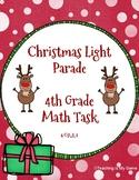 Christmas Light Parade Math Task