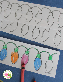 Christmas Activities   Christmas and Holiday Lights Patterning Activity