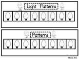 Christmas Light Pattern Freebie /Part of my FUN Math Station Unit- Kindergarten
