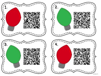 Christmas Light Patterns with QR Codes