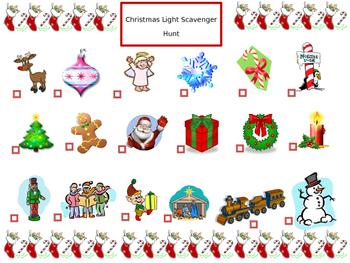 Christmas Light Scavenger Hunt