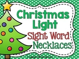 Christmas Light Sight Word Necklaces