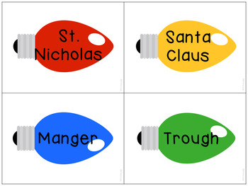 Christmas Light Synonyms for Speech Therapy