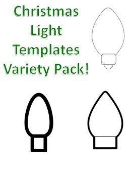 Christmas Light Templates Christmas Light Coloring Page Christmas Light Outlines