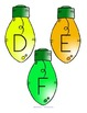 Christmas Lights Alphabet Recognition and Order - Center and Printables