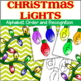 Christmas Lights Alphabet Recognition and Order - Center a