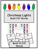 Christmas Lights Build CVC Words- December Literacy Center