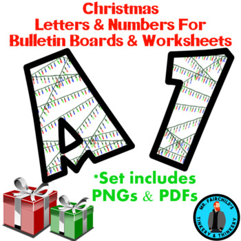 Christmas Lights Bulletin Board Letters And Numbers Clip Art