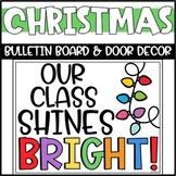 Christmas Lights Bulletin Board or Door Decoration