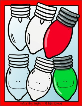 Christmas Lights Clip Art Set - Chirp Graphics