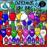 Christmas Light Bulbs Clip Art Set - Chirp Graphics