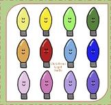Christmas Lights Clipart / Christmas Light Bulbs Clipart {Christmas Clipart}