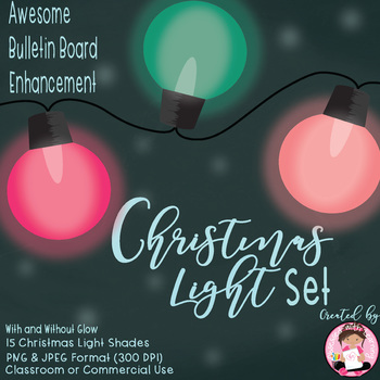 Christmas Lights Clipart - Classroom or Commercial Use