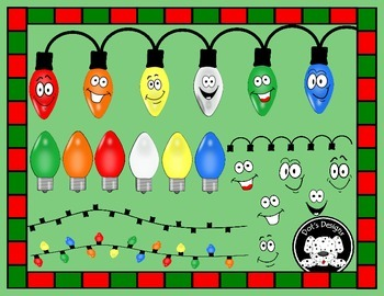 Christmas Lights Clipart ... Put the pieces together to make your own